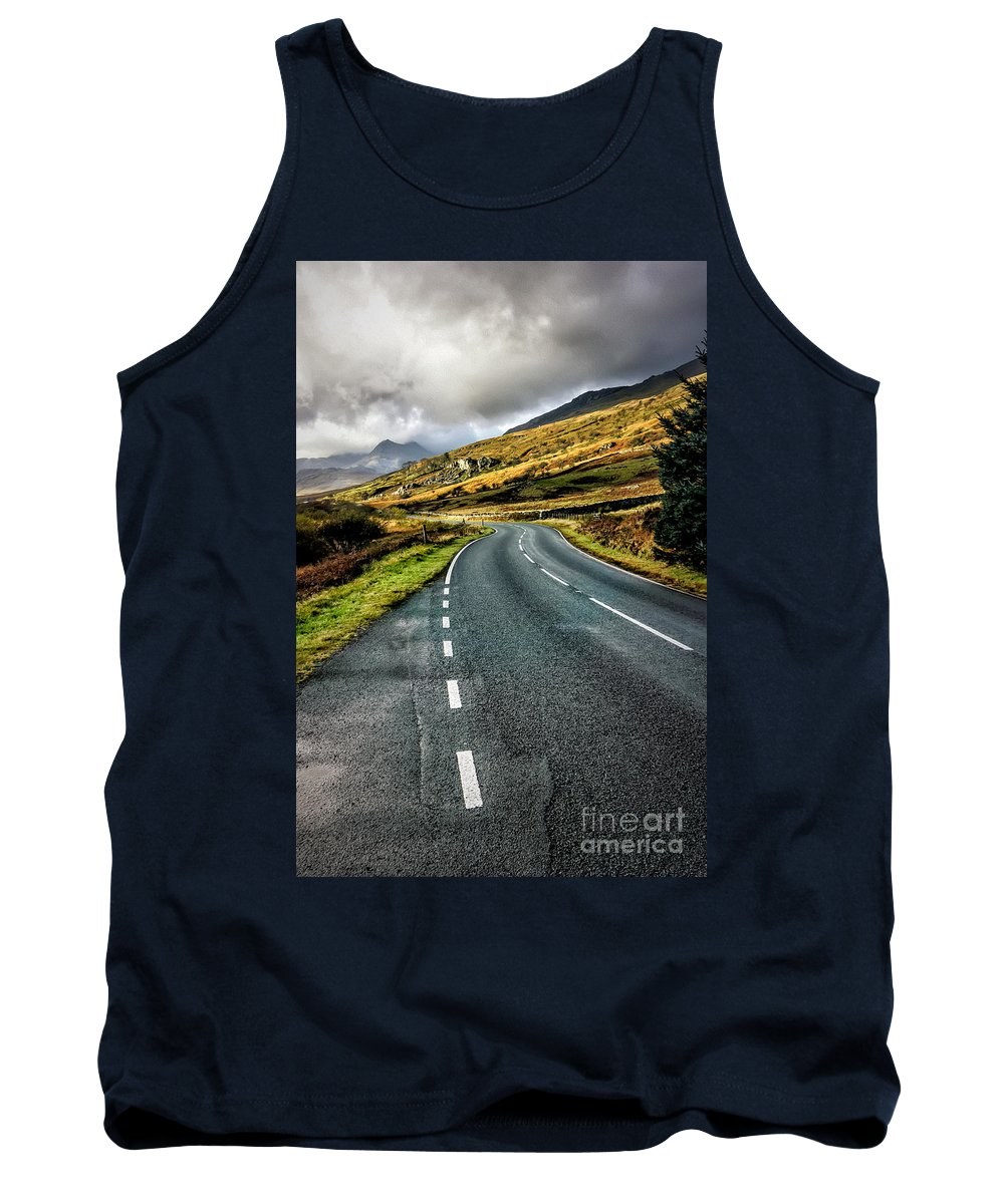 Snowdonia Tank Top featuring the photograph Winding Road by Adrian Evans