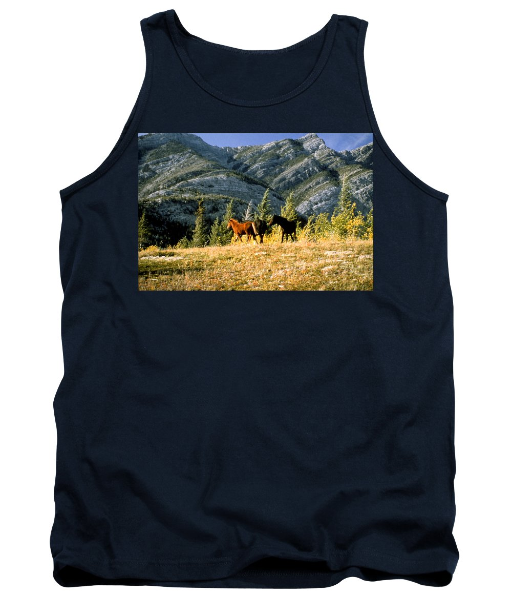 Alberta Tank Top featuring the photograph Wlid Brumbies by Roderick Bley