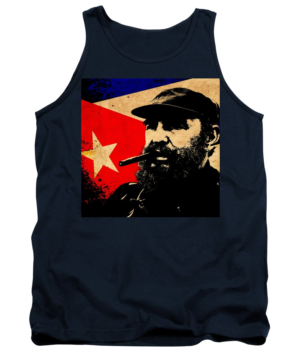 Castro Tank Top featuring the photograph World Leaders 5 by Andrew Fare