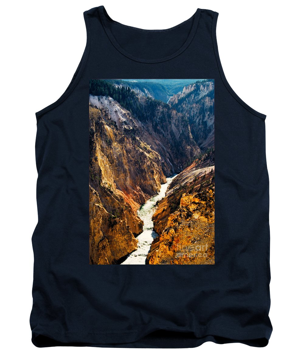 Yellowstone Tank Top featuring the photograph Yellowstone River by Kathy McClure