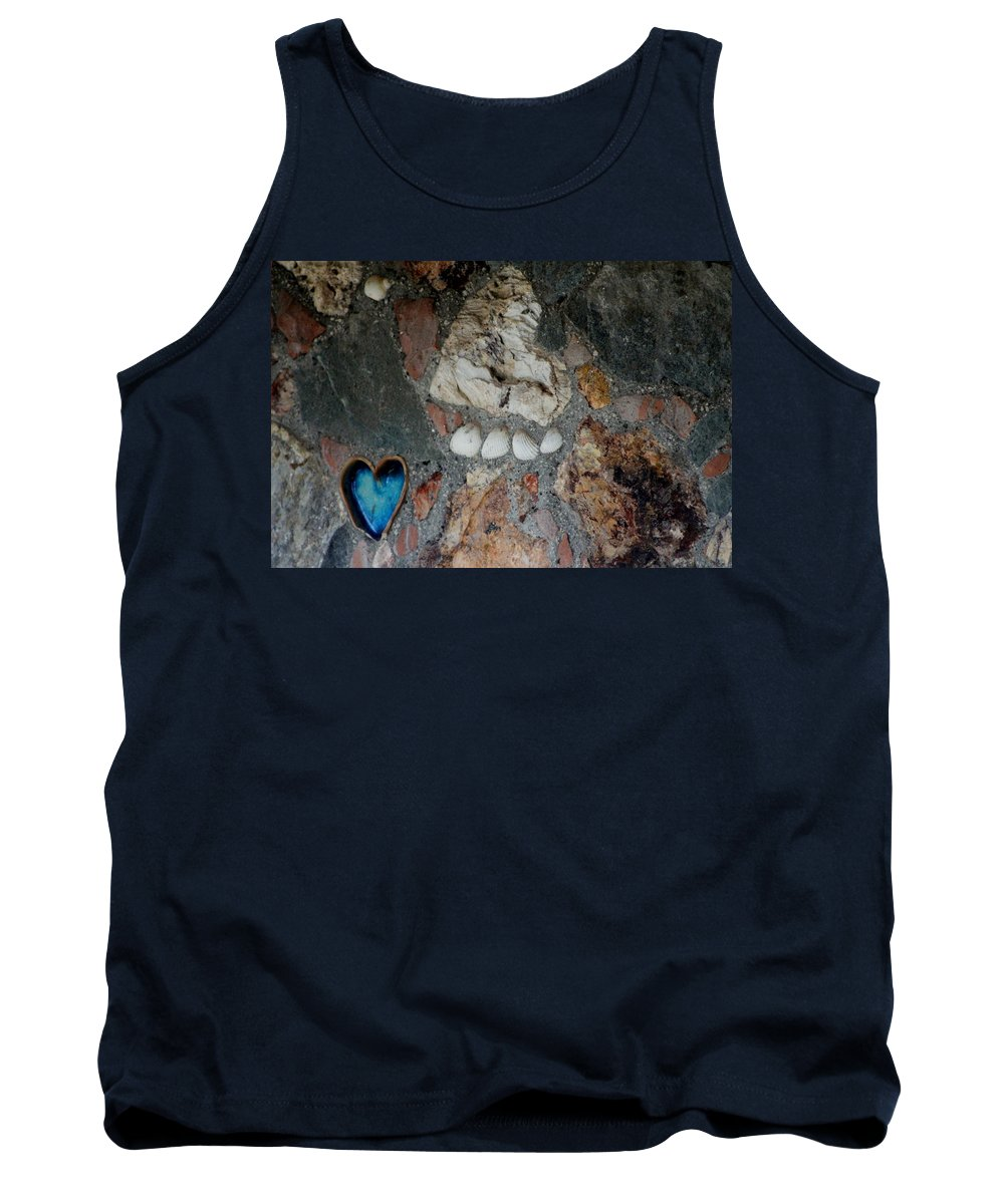 Heart Tank Top featuring the photograph You Left Your Pawprint In My Heart by Fiona Kennard