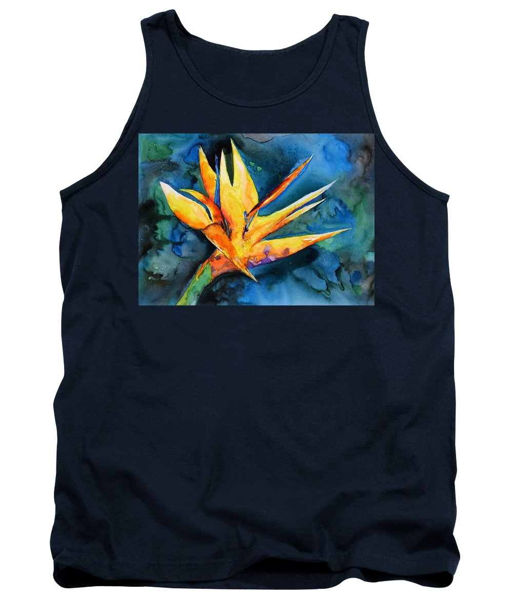 Bird Of Paradise Tank Top featuring the painting Yupo Paradise by Patricia Beebe