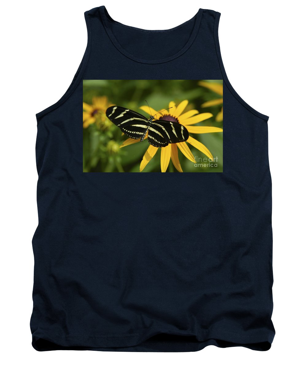 Butterfly Tank Top featuring the photograph Zebra Butterfly by Anthony Sacco