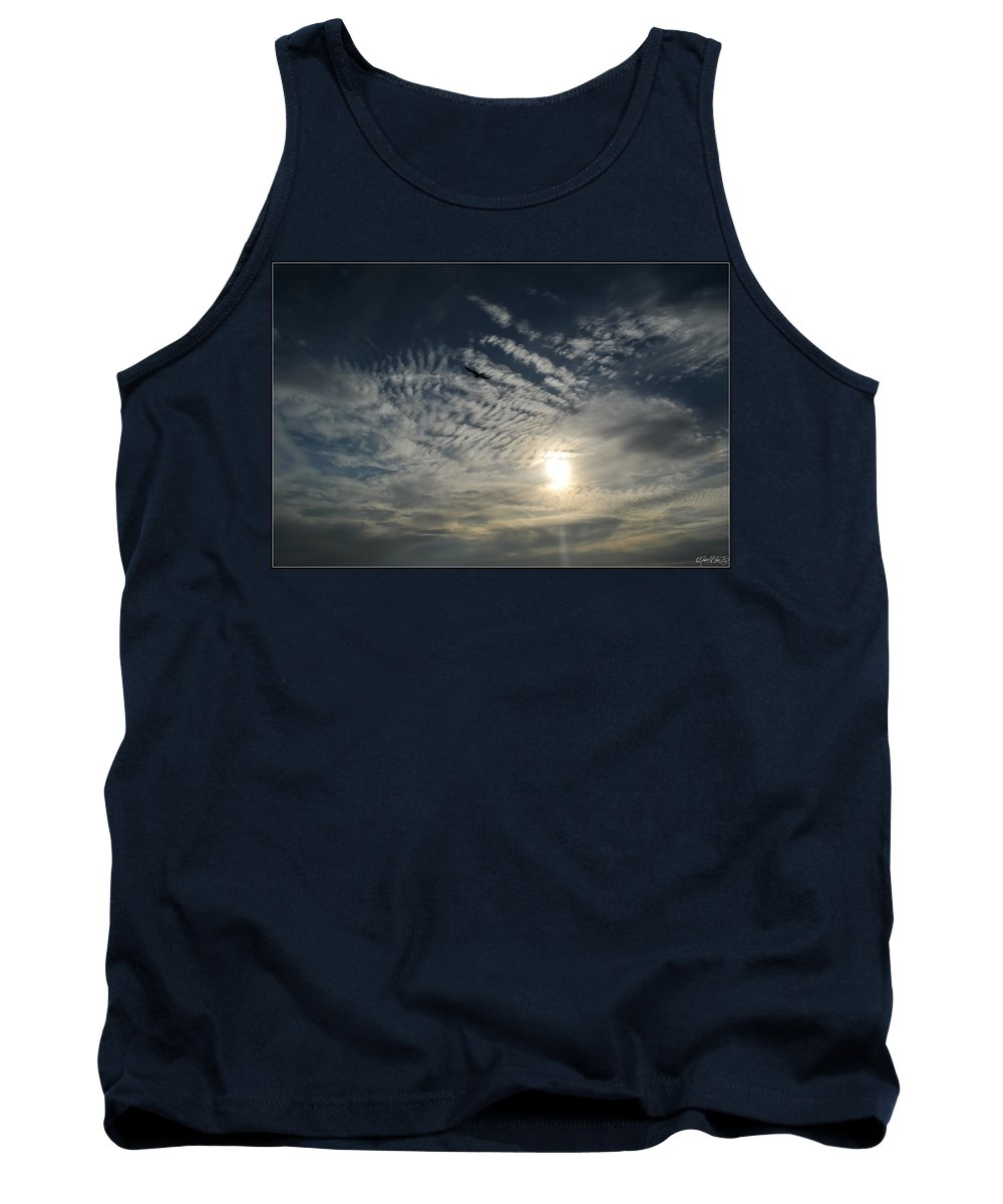 Tank Top featuring the photograph 005 When Feeling Down Pick Your Head Up To The Skies Series by Michael Frank Jr