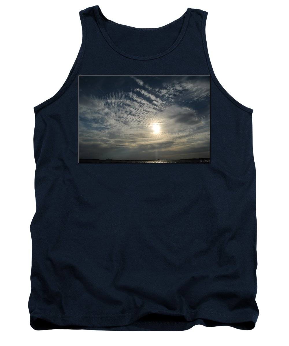 Tank Top featuring the photograph 006 When Feeling Down Pick Your Head Up To The Skies Series by Michael Frank Jr