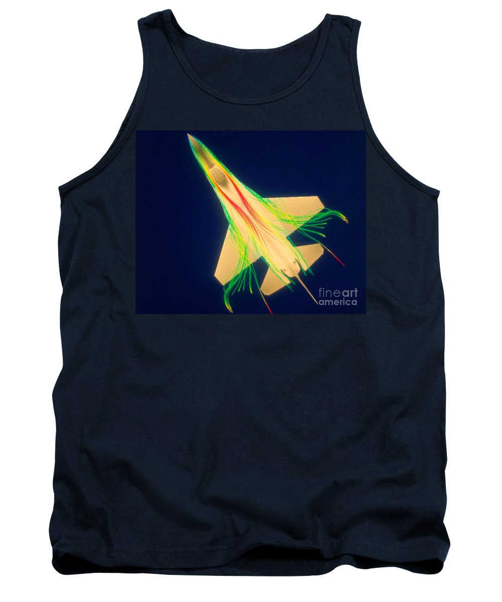 Lockheed Martin Tank Top featuring the photograph Air Flow Over F-16 Jet Fighter by Nasa