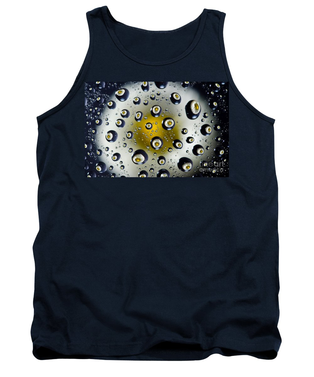 Flower Tank Top featuring the photograph Flowers In Water Drops by Mats Silvan