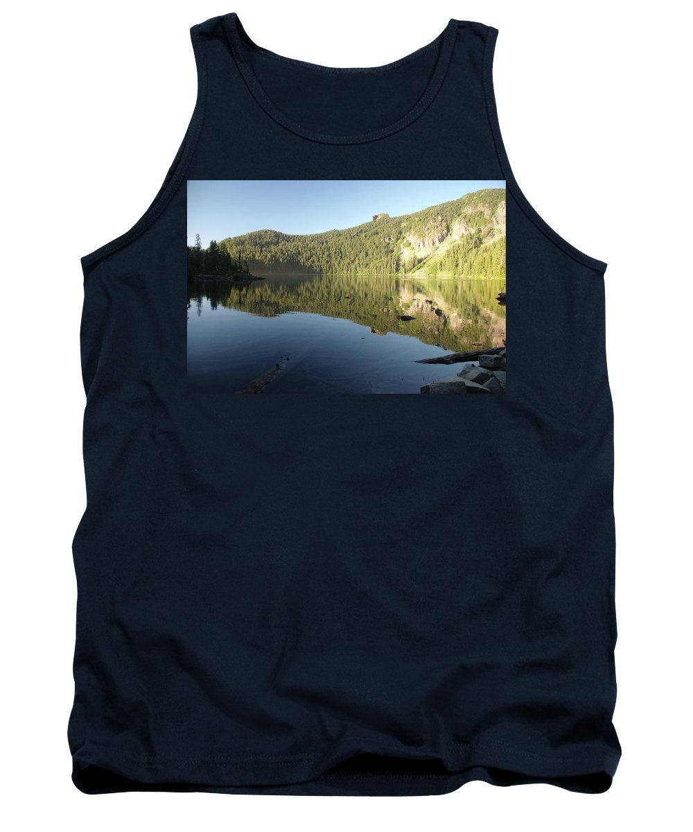 Mowich Tank Top featuring the photograph Mowich Lake by Michael Merry