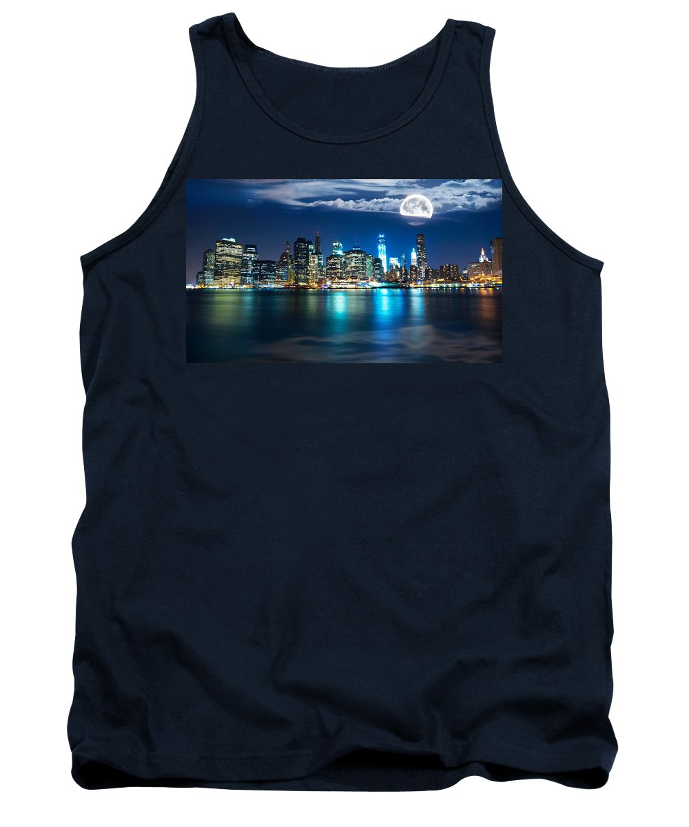 America Tank Top featuring the photograph New York Skyline by Mircea Costina Photography
