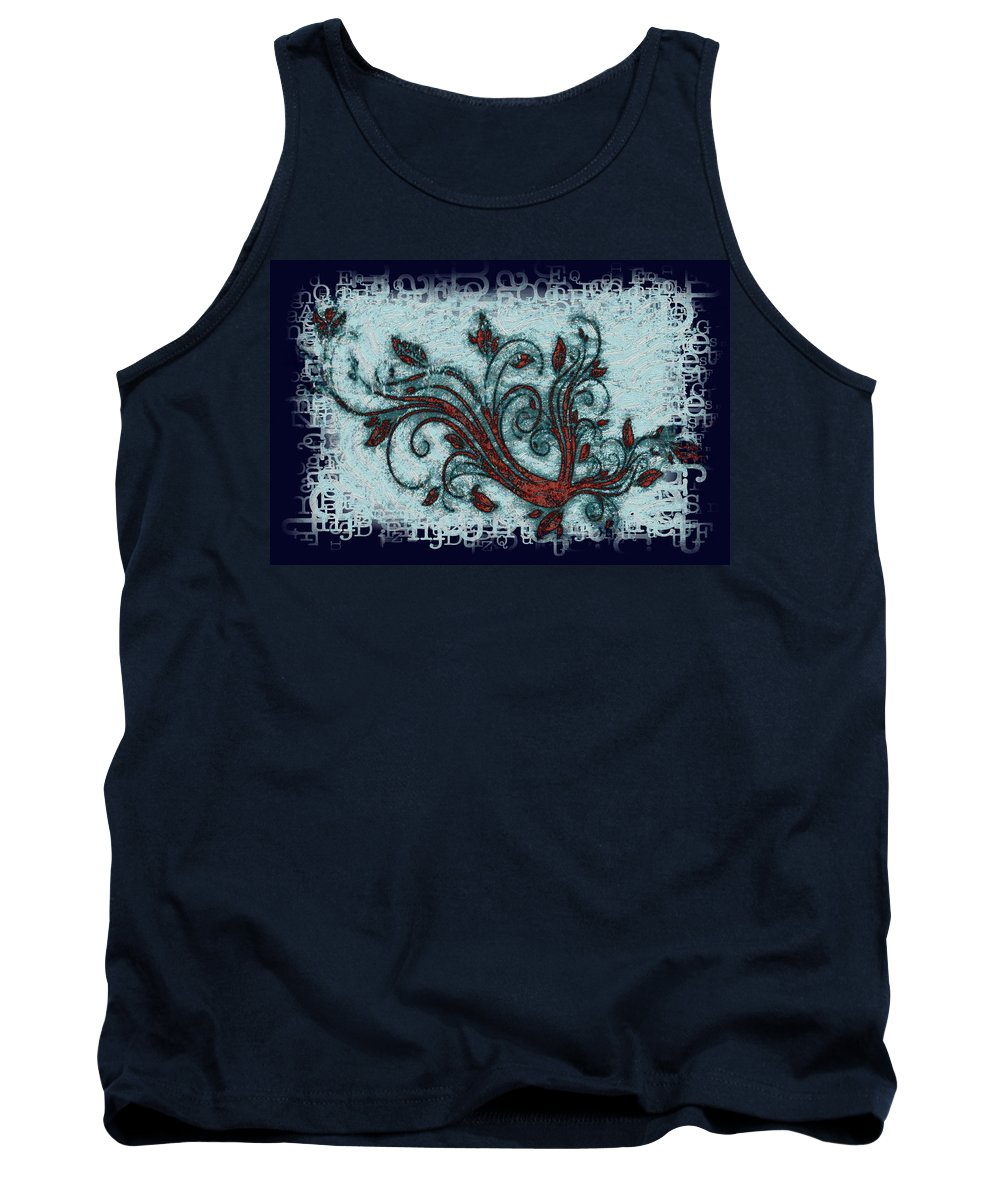 Weeds Tank Top featuring the digital art Weeds by Bill Cannon