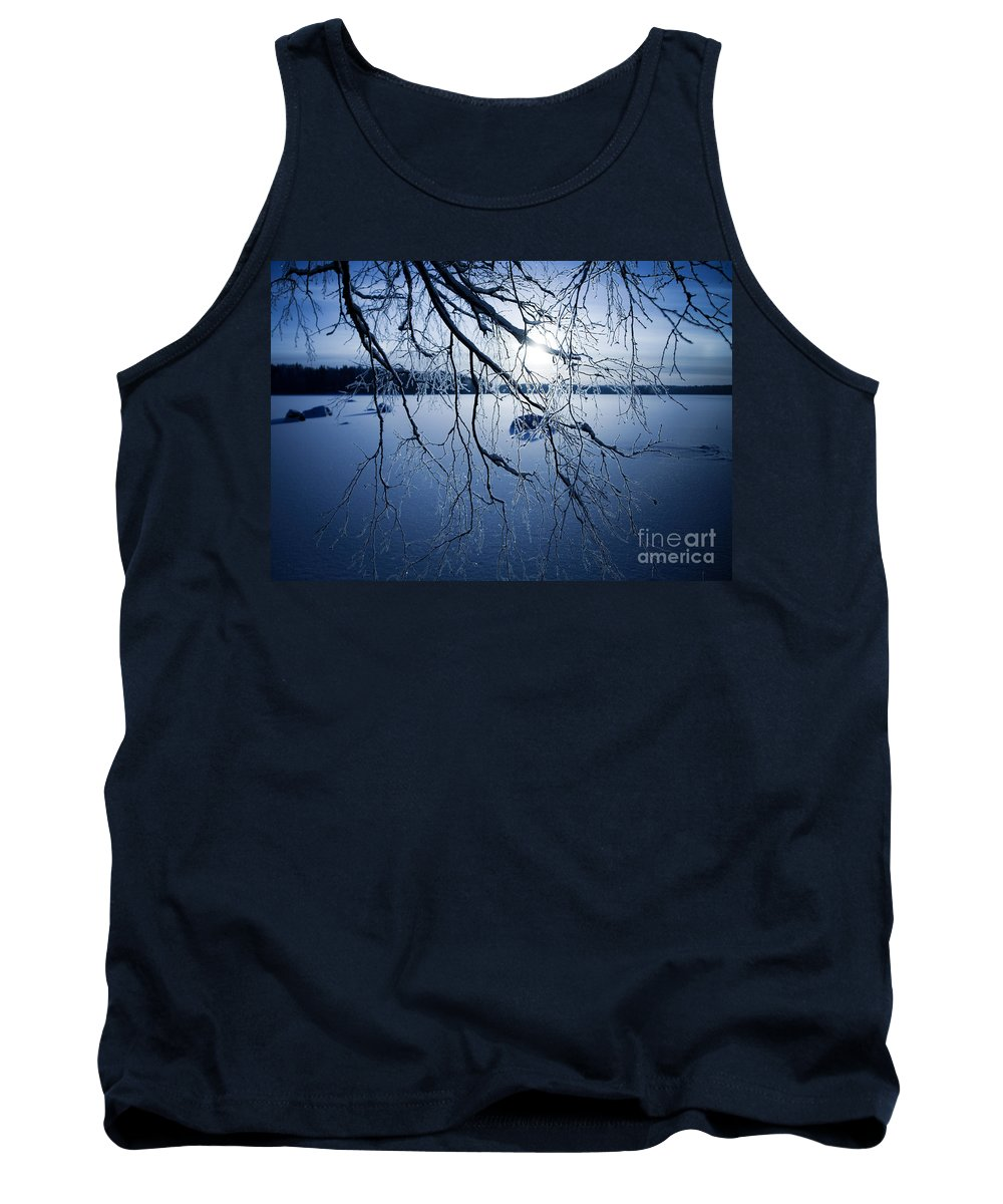 Beautiful Tank Top featuring the photograph Winter Sunset by Kati Finell