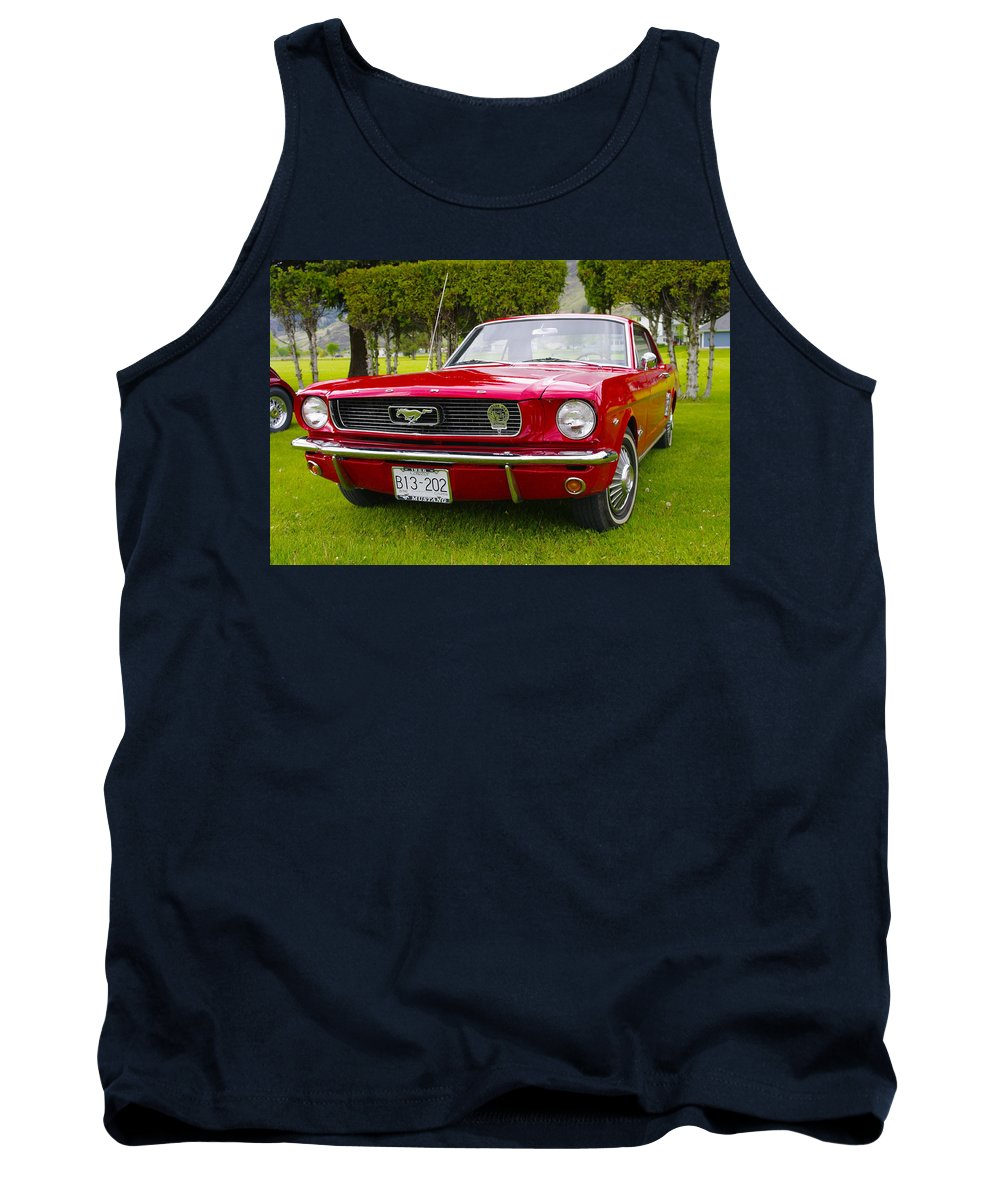 1966 Tank Top featuring the photograph 1966 Ford Mustang by John Greaves