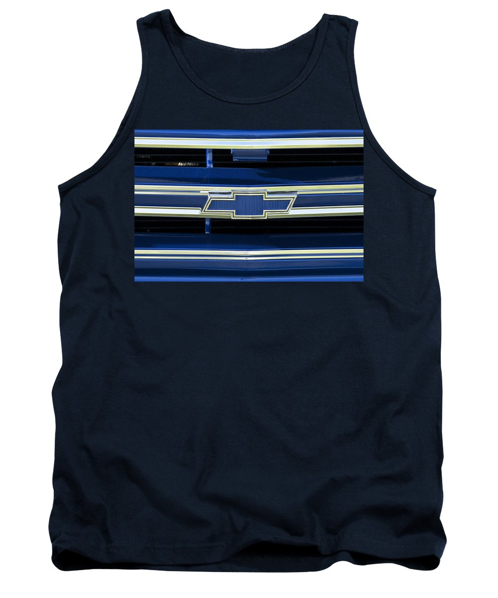 1971 Chevrolet Tank Top featuring the photograph 1971 Chevrolet Grille Emblem by Jill Reger