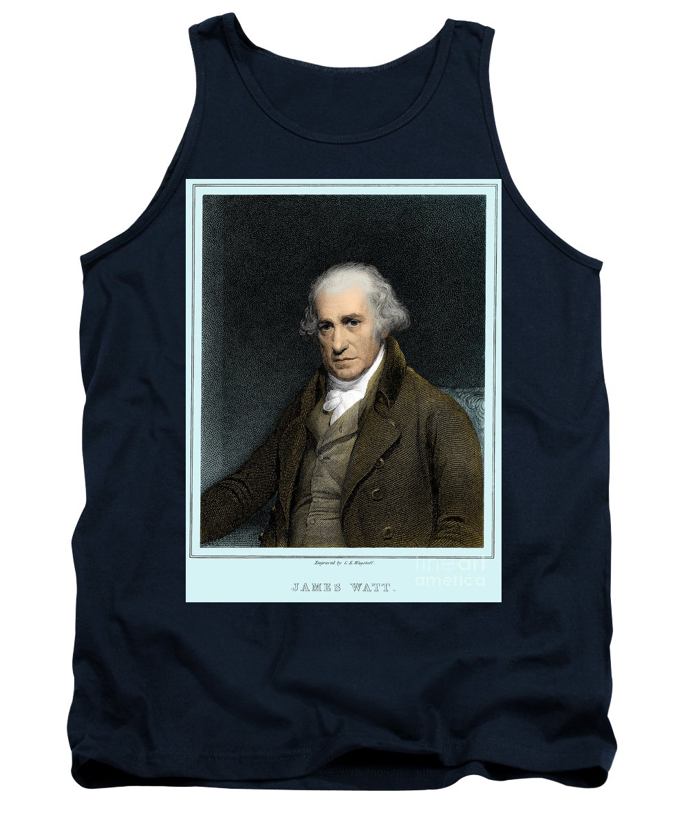 Science Tank Top featuring the photograph James Watt, Scottish Inventor by Science Source