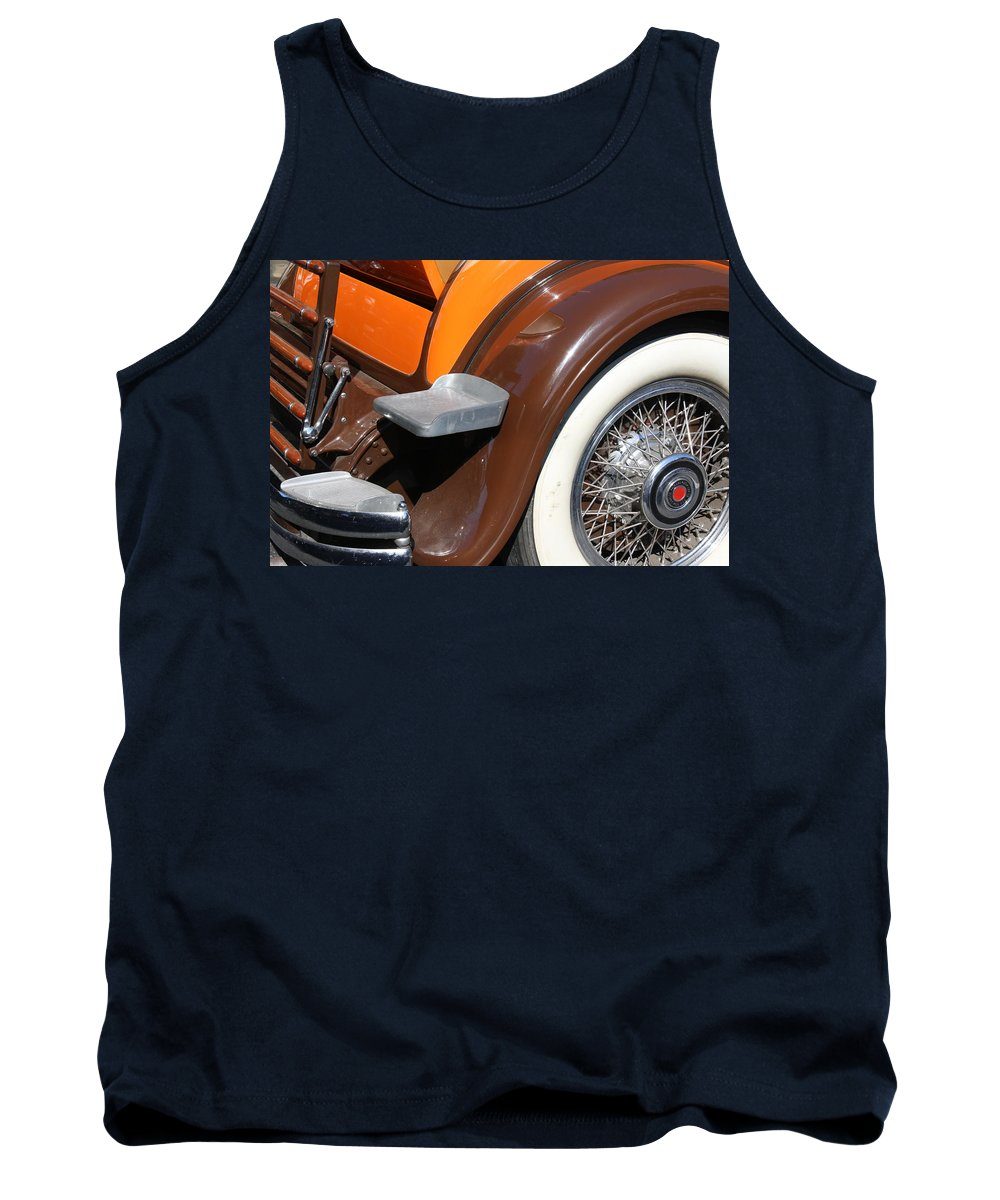 Vintage Tank Top featuring the photograph Classic Antique Car- Detail by Dora Sofia Caputo Photographic Design and Fine Art