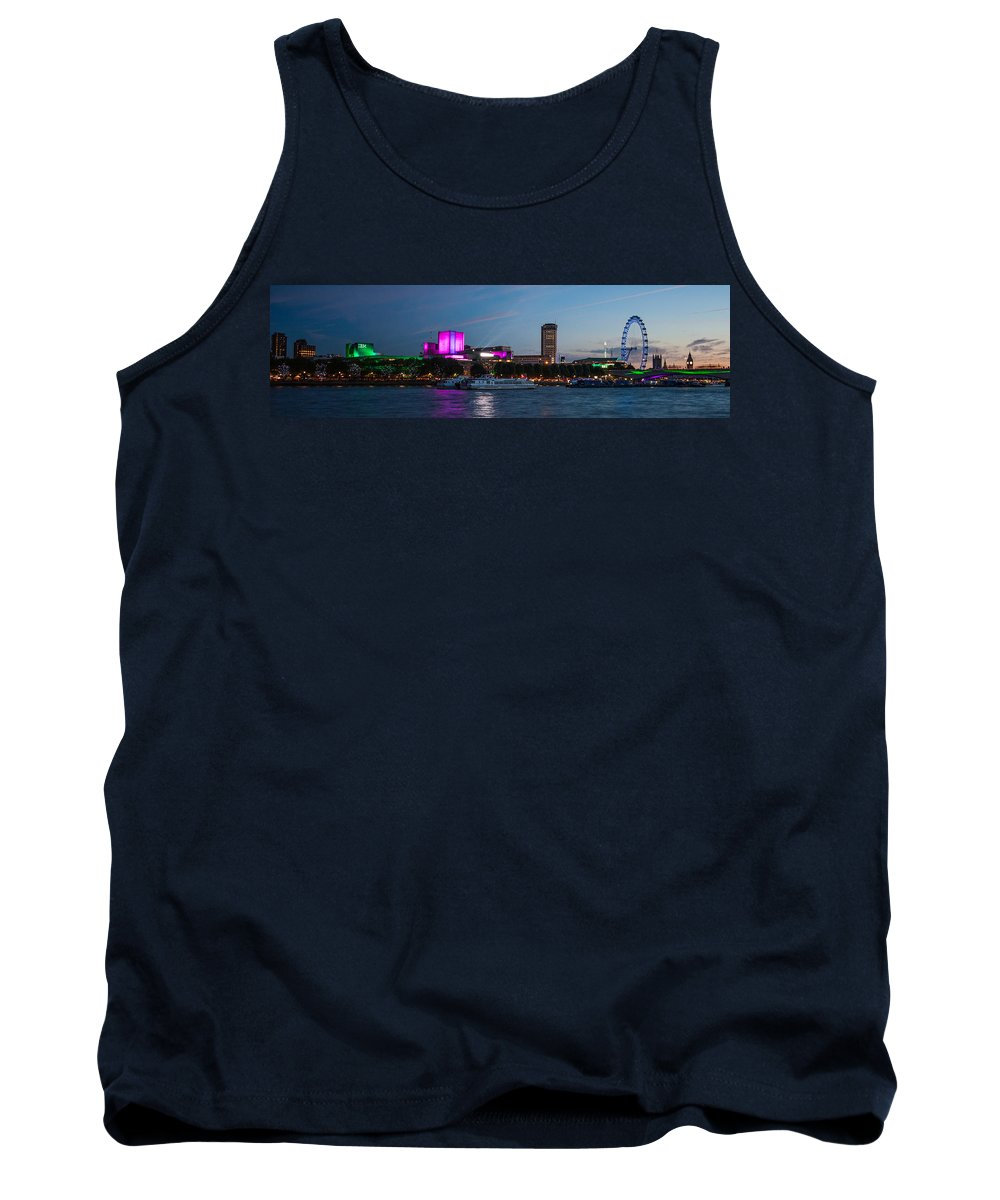 London Tank Top featuring the photograph London Skyline Sunset by Dawn OConnor