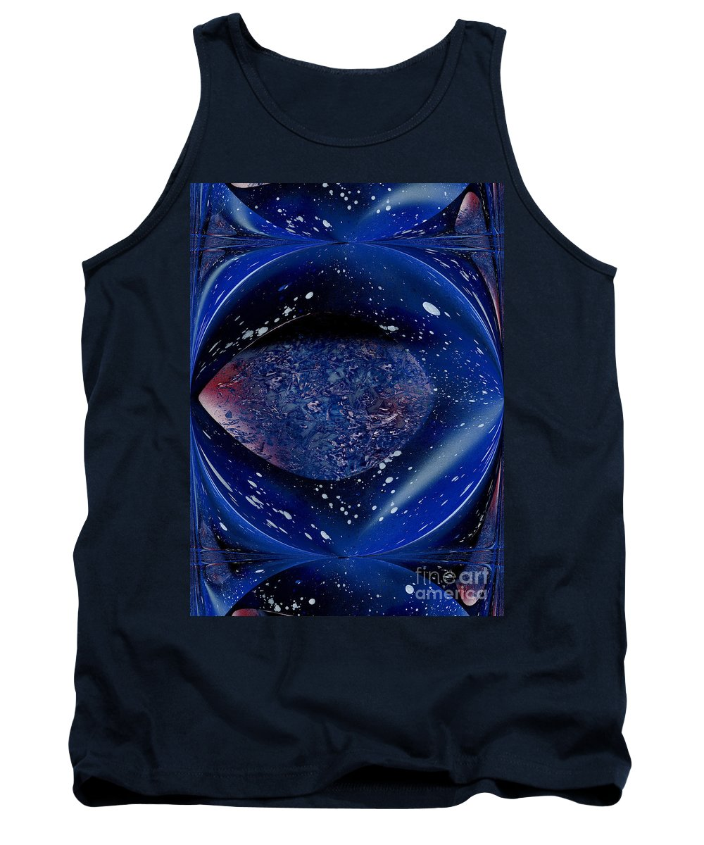 Space Tank Top featuring the painting Abstract Space by Bill Richards