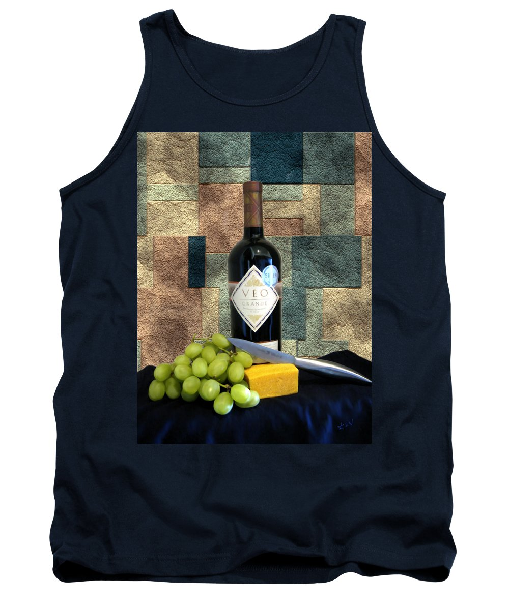 Wine Tank Top featuring the photograph Afternoon Delights by Kurt Van Wagner