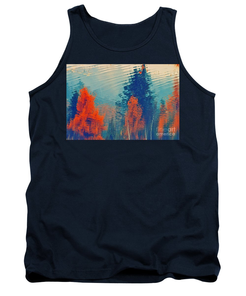 Trees Tank Top featuring the photograph Autumn Vision by Aimelle