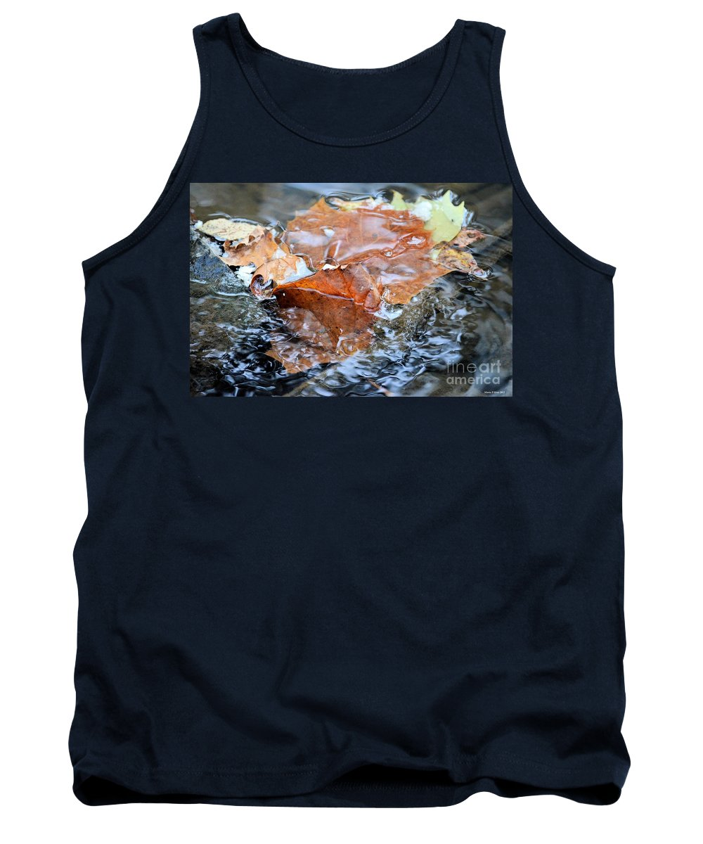 Autumn Waters Tank Top featuring the photograph Autumn Waters by Maria Urso