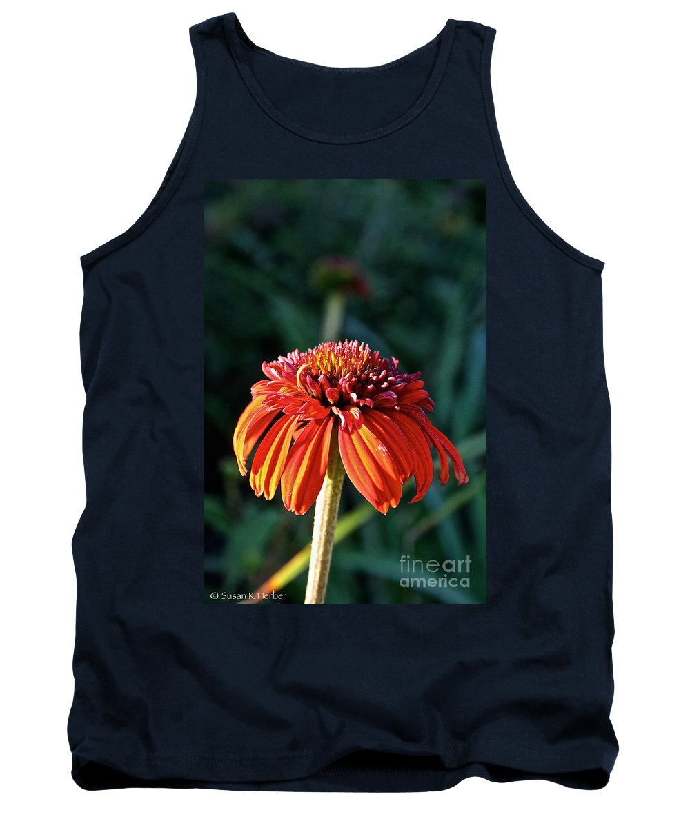 Outdoors Tank Top featuring the photograph Autumn's Cone Flower by Susan Herber