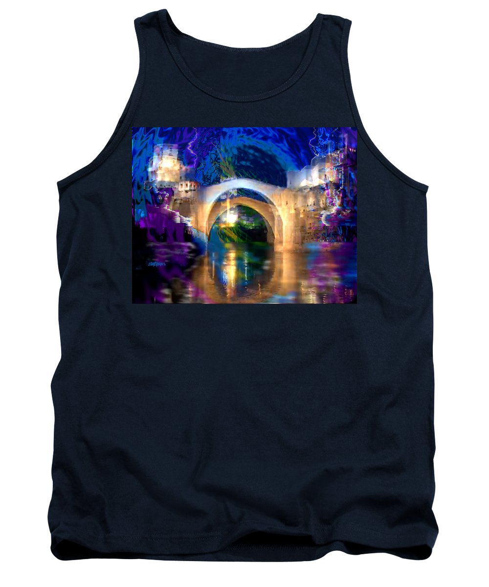 Bad Weather Coming Tank Top featuring the digital art Bad Weather Coming by Seth Weaver