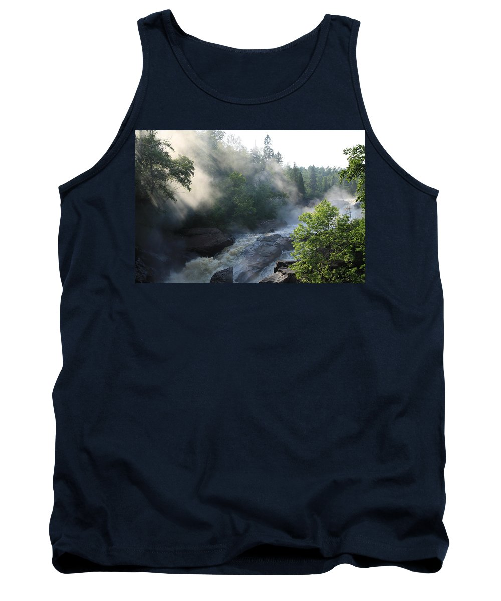 Tank Top featuring the photograph Beaver River Fog4 by Joi Electa