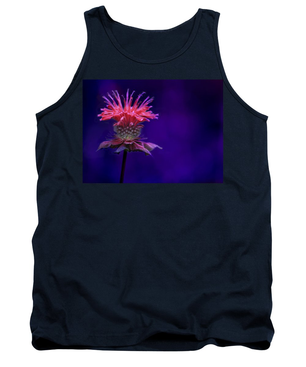 Bee Tank Top featuring the photograph Bee Balm by Shelley Neff