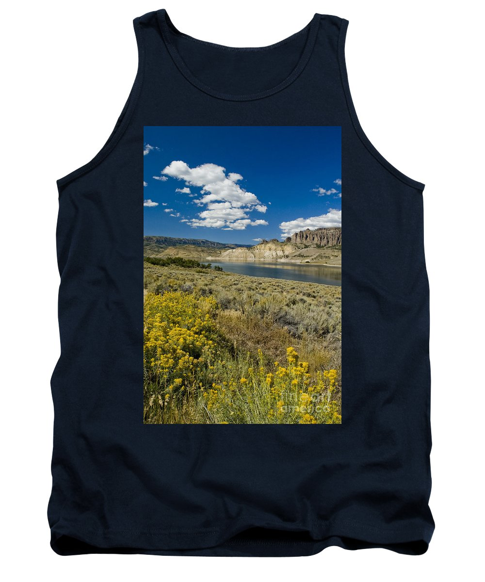 Blue Mesa Tank Top featuring the photograph Blue Mesa Reservoir - V by Tim Mulina