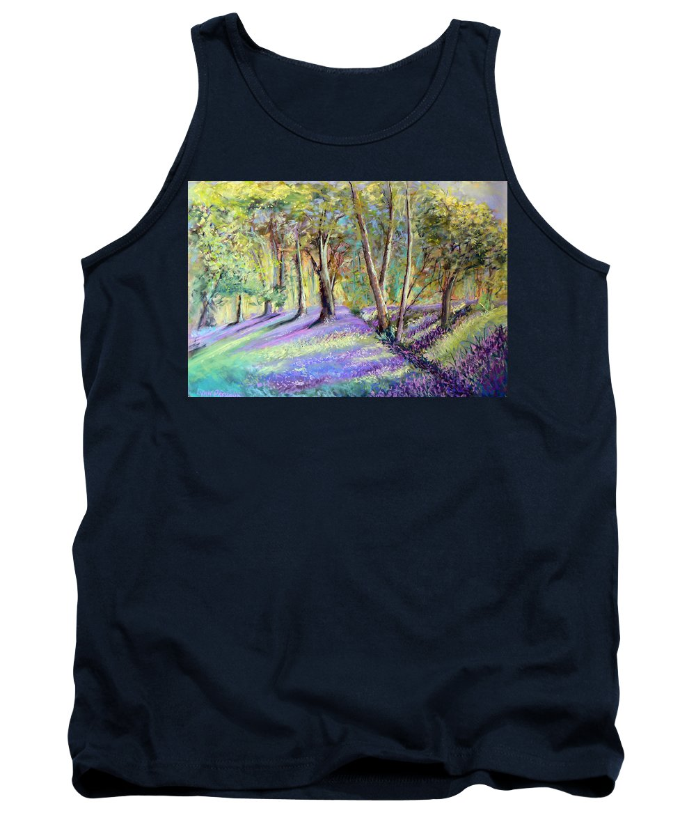 Bluebell Wood Tank Top featuring the photograph Bluebell Wood by Lynn Presland