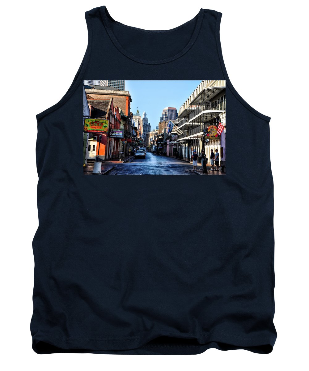 Bourbon Street By Day Tank Top featuring the photograph Bourbon Street By Day by Bill Cannon