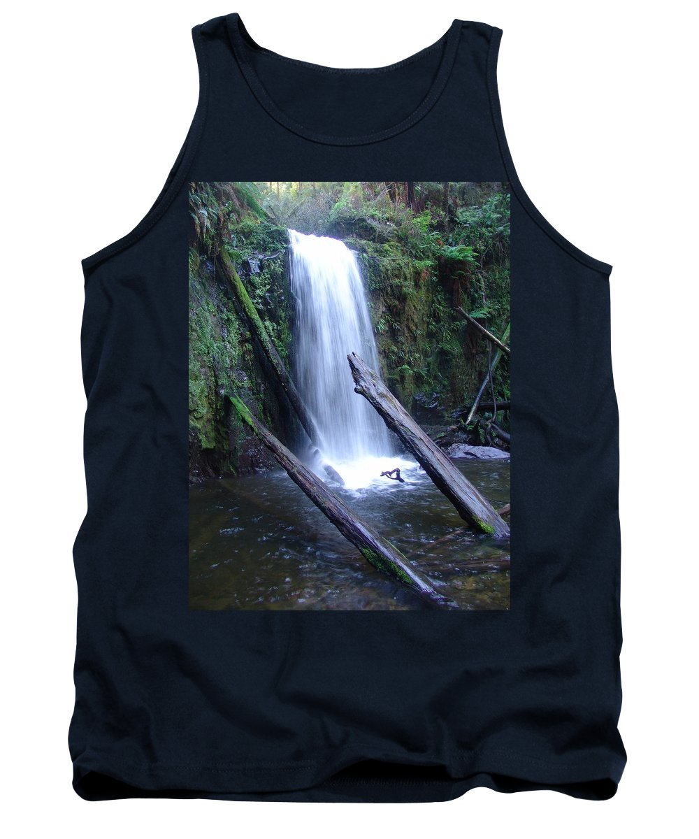 Waterfall Tank Top featuring the photograph Rainforest Waterfall Cascades by Ian Mcadie
