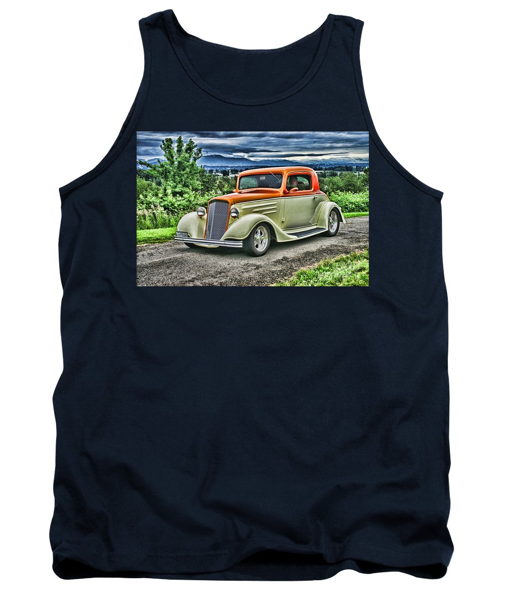Cars Tank Top featuring the photograph Classic Ford Hdr by Randy Harris