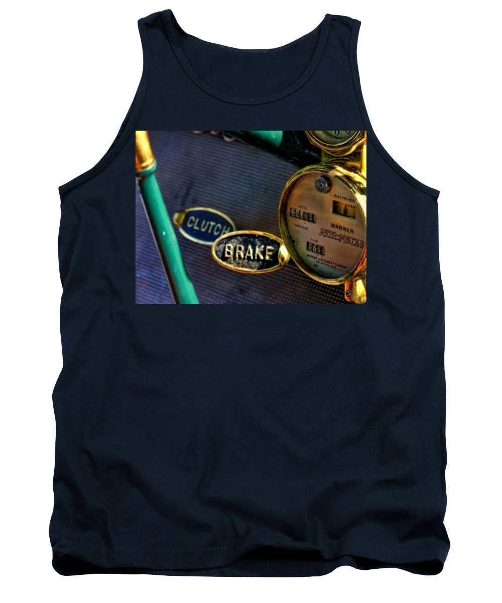 Classic Cars Tank Top featuring the photograph Clutch And Brake by Adam Vance