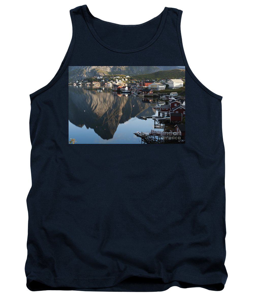 Norway Tank Top featuring the photograph Crystal Waters At Reine Village by Heiko Koehrer-Wagner