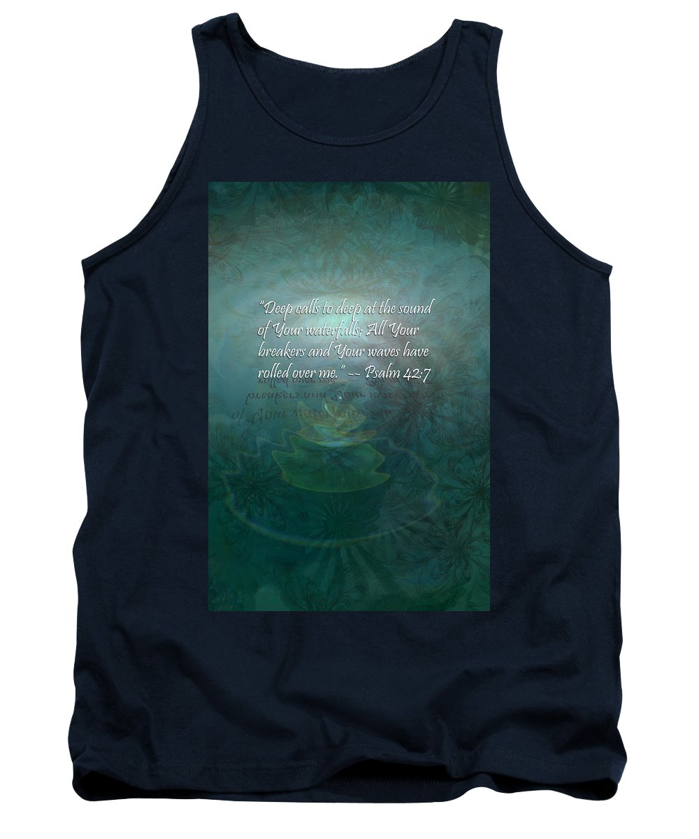 Deep Tank Top featuring the painting Deep Calls To Deep by Christopher Gaston