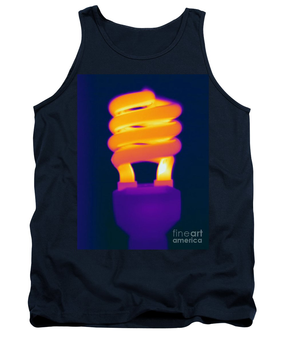 Thermogram Tank Top featuring the photograph Energy Efficient Fluorescent Light by Ted Kinsman