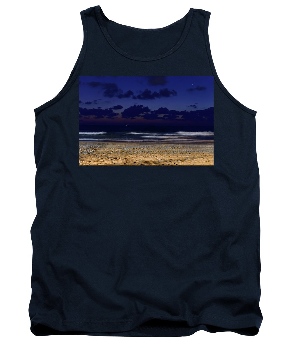 Clouds Tank Top featuring the photograph Evening On The Beach by Michael Goyberg