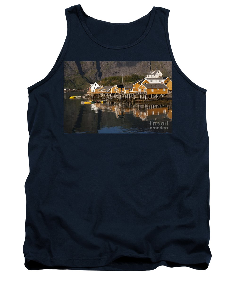 Norway Tank Top featuring the photograph Fishermen's Village Sakrisoy by Heiko Koehrer-Wagner
