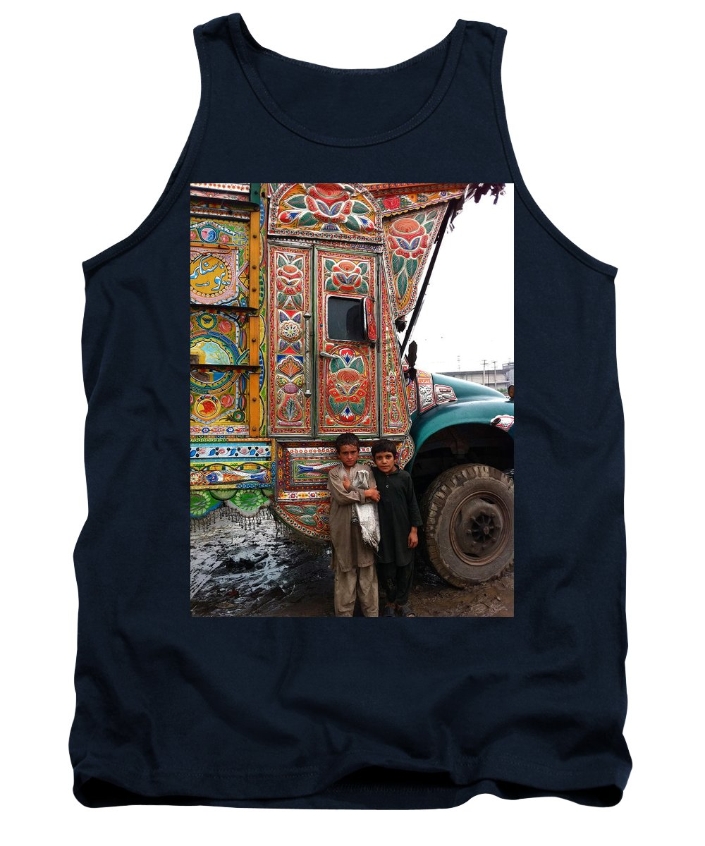 Truck Art Tank Top featuring the photograph Friends - Take Me For A Ride In Your Jingly Truck by Fareeha Khawaja