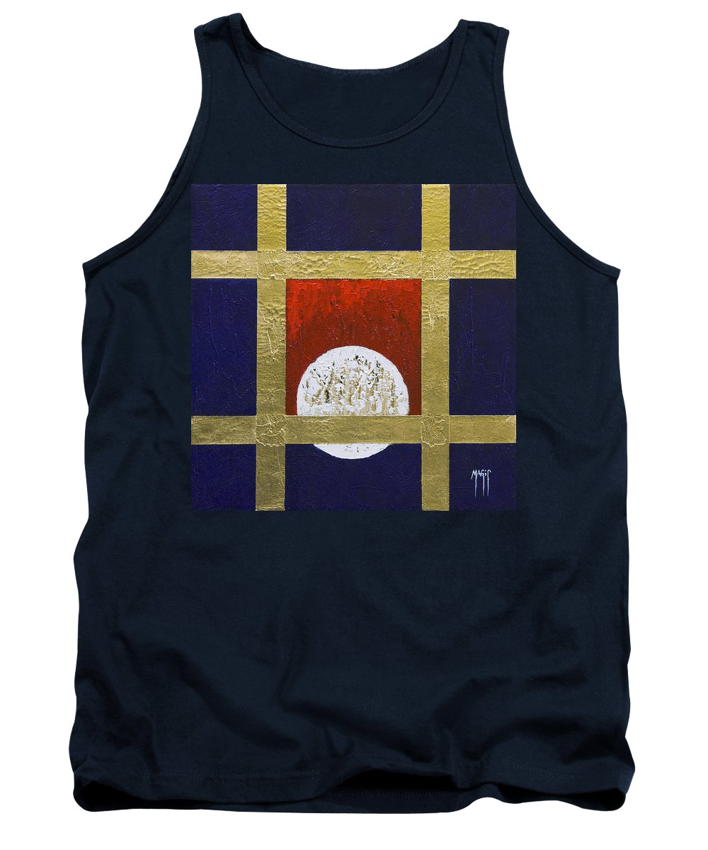 Art Tank Top featuring the painting Full Moon by Mauro Celotti