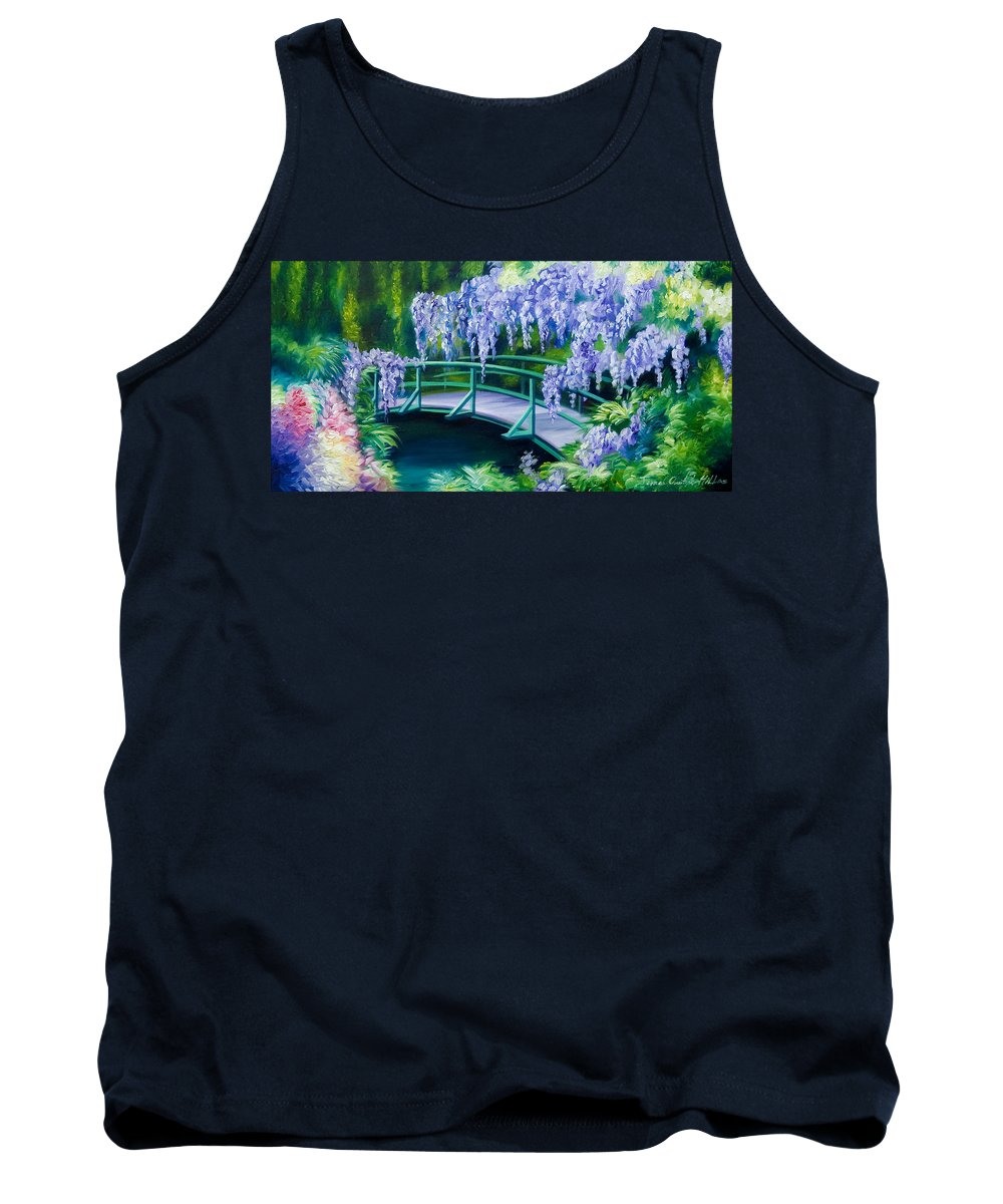 Bright Clouds Tank Top featuring the painting Gardens of Givernia II by James Christopher Hill