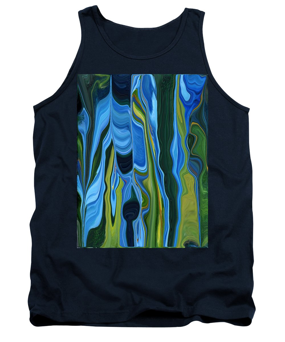 Blue Tank Top featuring the painting Growth by Renate Nadi Wesley