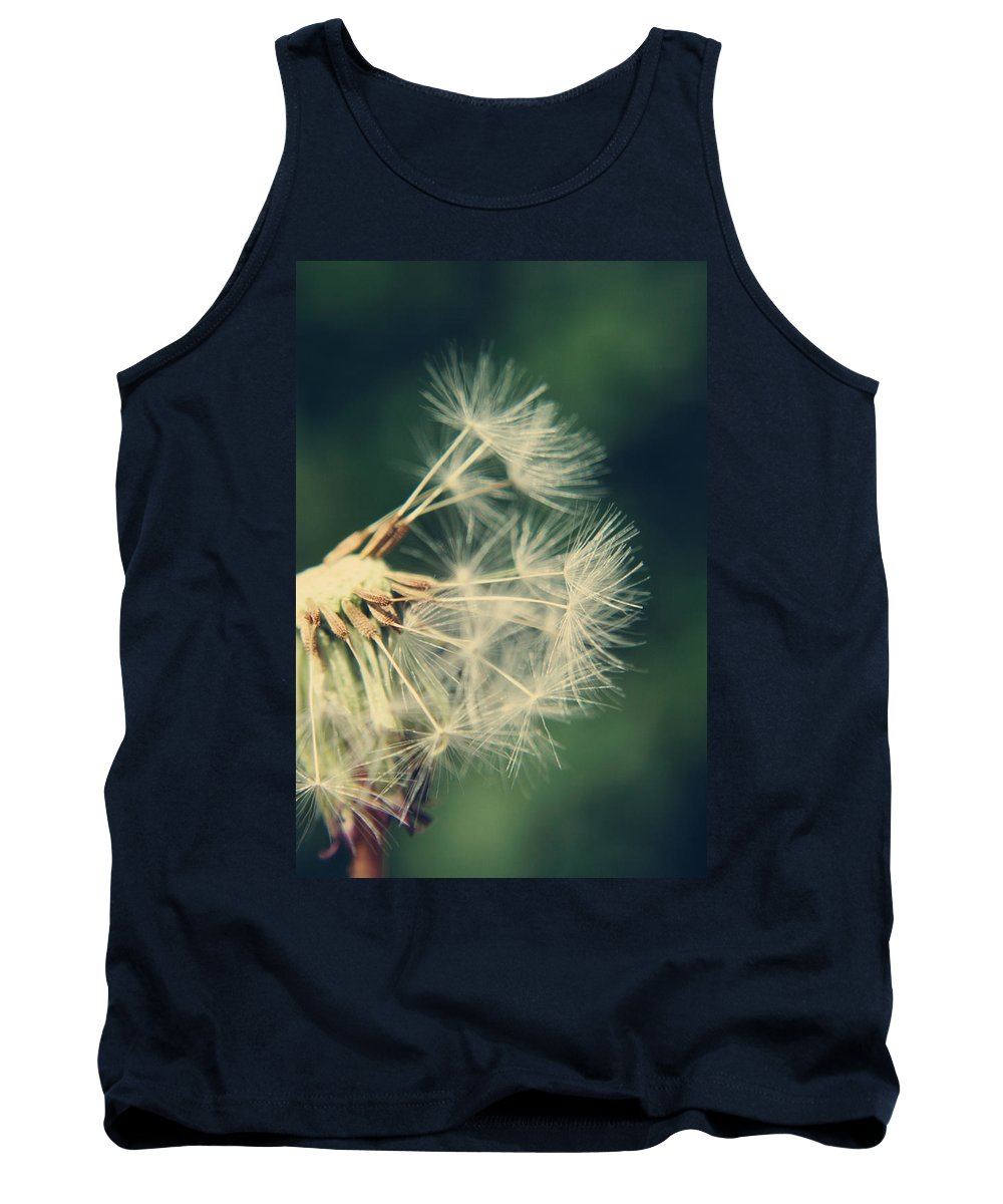 Dandelion Tank Top featuring the photograph Hanging On by Heather Applegate