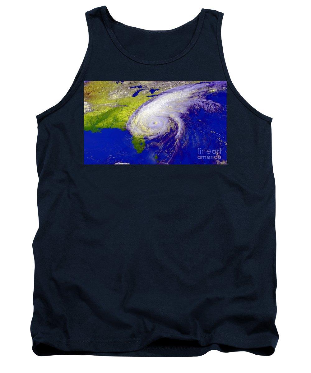 Atlantic Ocean Tank Top featuring the photograph Hurricane Floyd by NASA / Goddard Space Flight Center