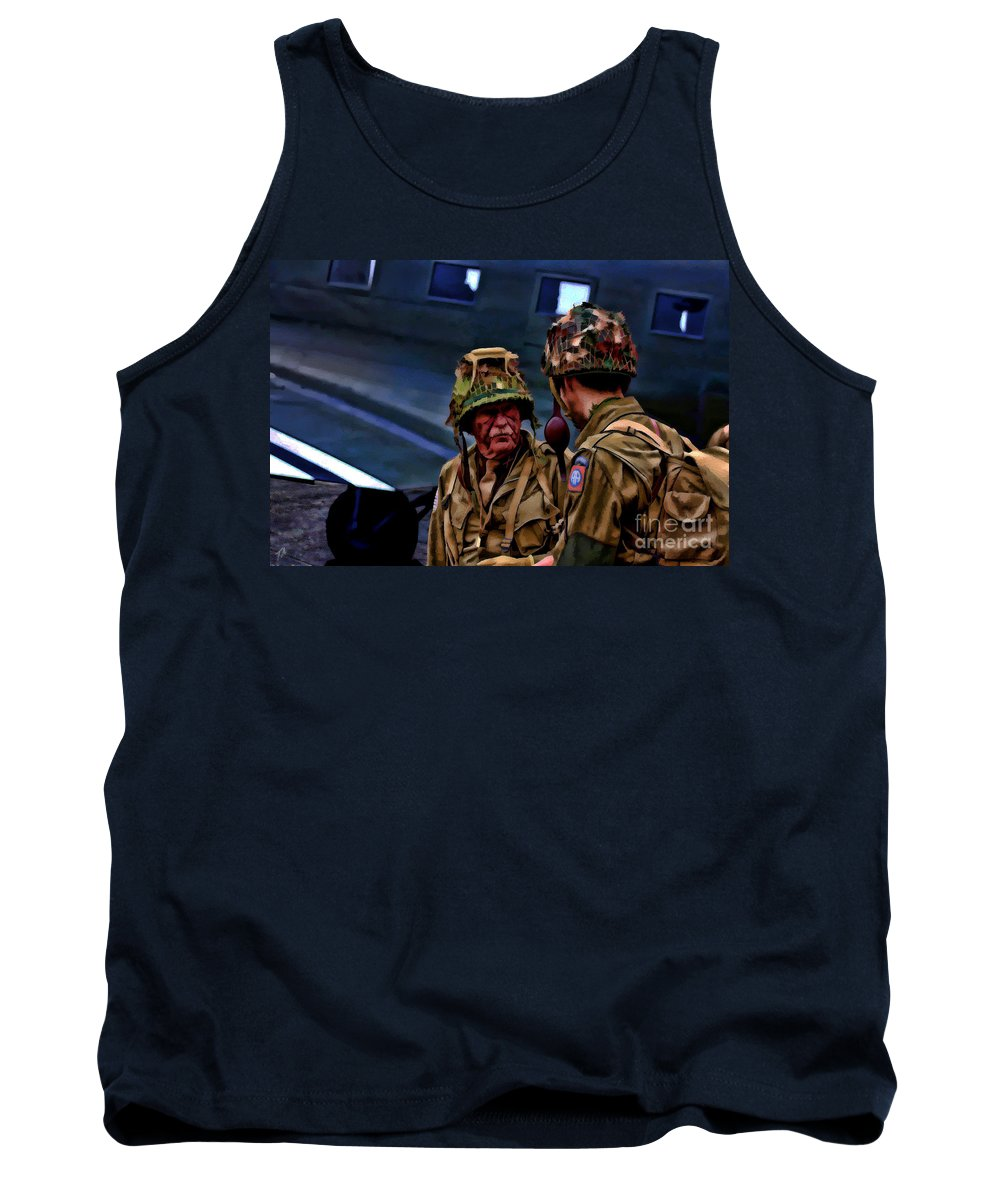 82nd Airborne Division Tank Top featuring the digital art Lets Go by Tommy Anderson