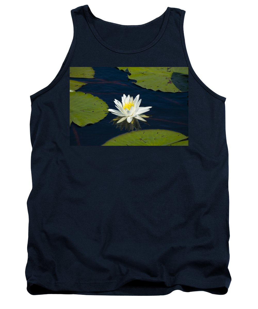 Lily Pad Tank Top featuring the photograph Lily Pad And Flower by Rich Franco
