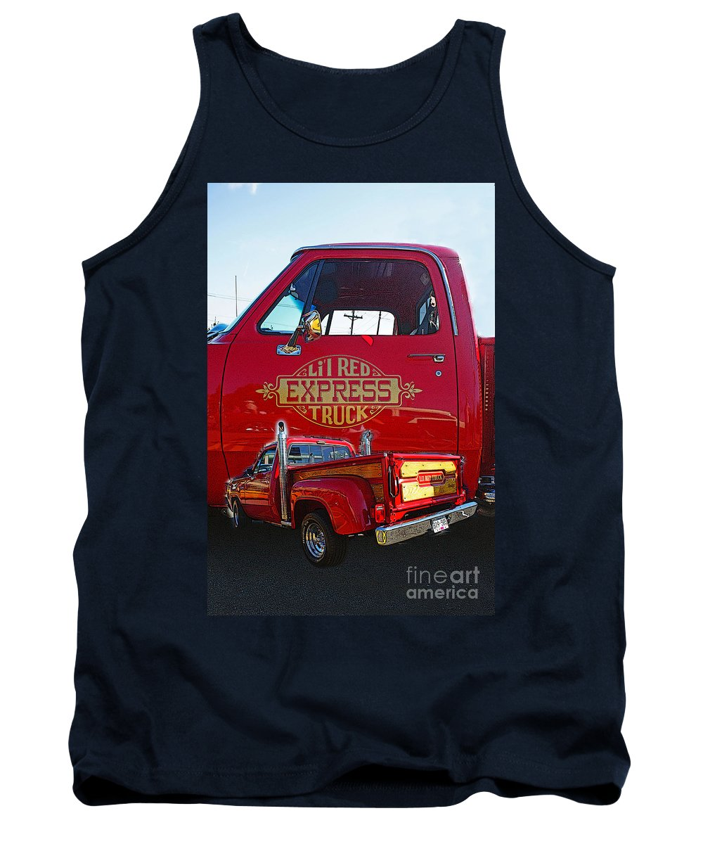Cars Tank Top featuring the photograph Little Red Exprees Door Hdr by Randy Harris