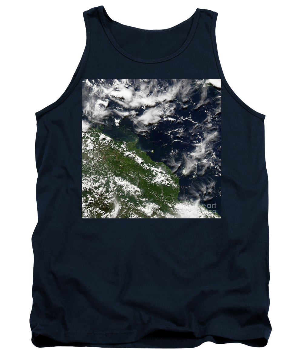 Manam Tank Top featuring the photograph Manam Island, Papua New Guinea by Nasa