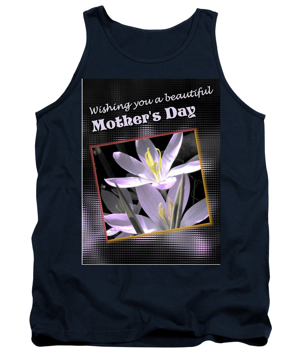 Greeting Card Tank Top featuring the digital art Mothers Day Wish by Susan Kinney
